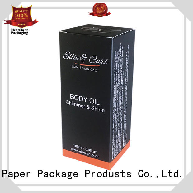 Hot printing cosmetic packaging box professional cosmetic Mengsheng Brand