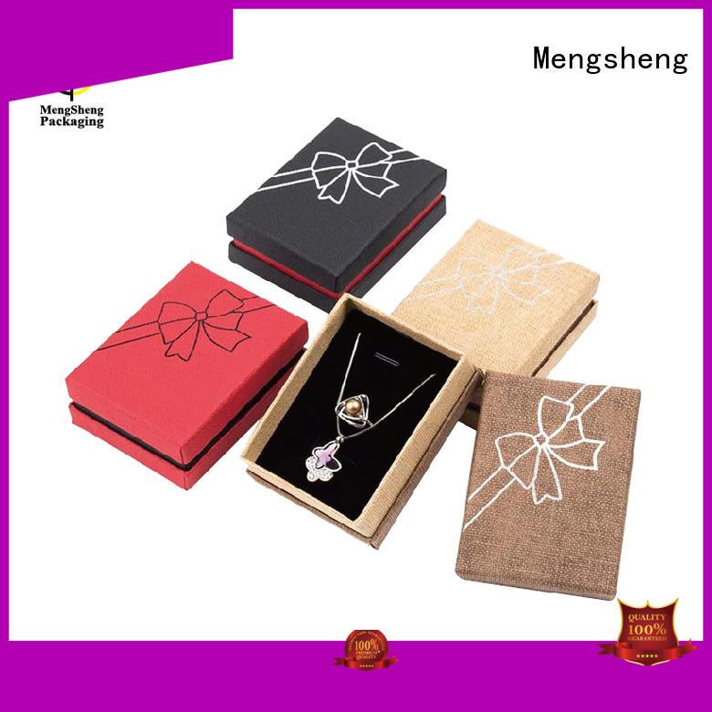 Custom jewelry professional kraft jewelry boxes Mengsheng luxury