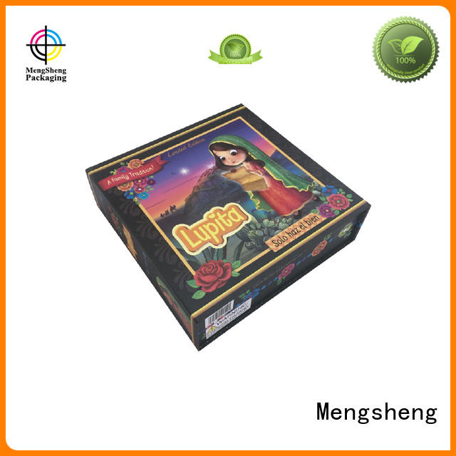 Mengsheng luxury fold up gift boxes logo printed garment packing