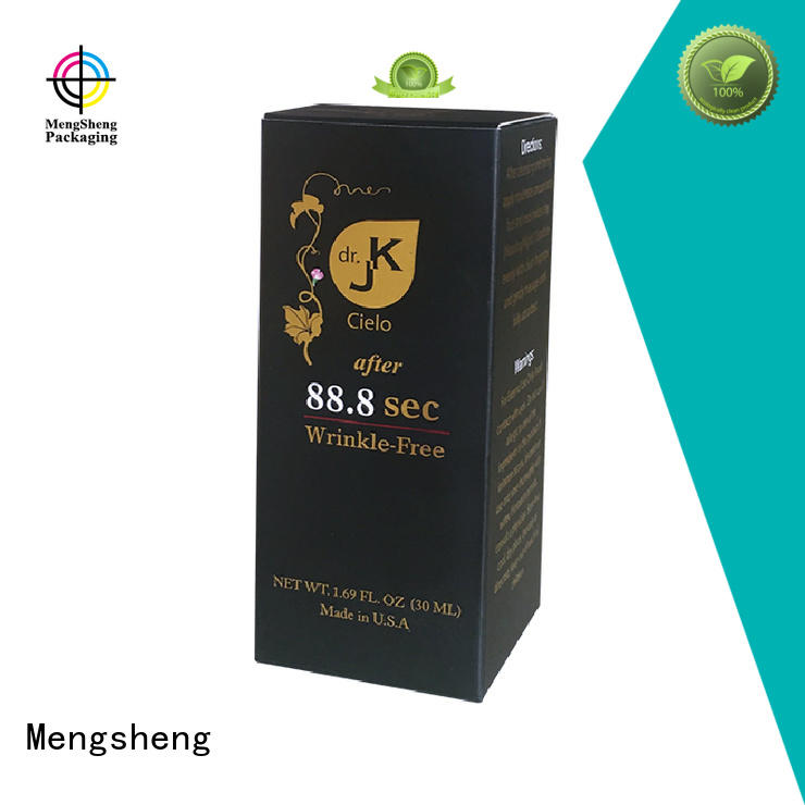 Quality Mengsheng Brand custom printed cosmetic boxes professional card