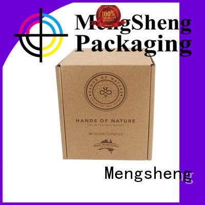 Mengsheng natural kraft paper corrugated box plant clothing packing convenient
