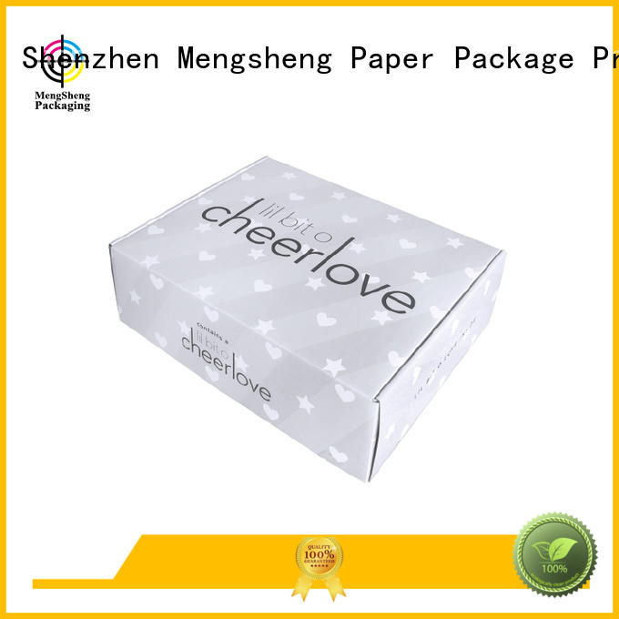 professional clasical corrugated small shipping boxes tuck Mengsheng Brand