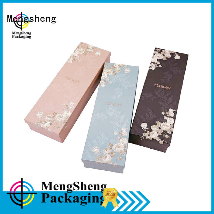 Mengsheng square flower gift box at discount for packaging