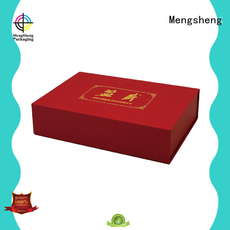 Mengsheng round tube brown cardboard gift boxes reversible top brand