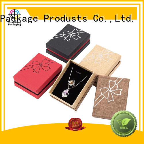 paper professional jewelry gift boxes Mengsheng manufacture