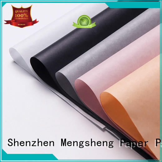 tracing packaging coloured tissue paper paper Mengsheng company