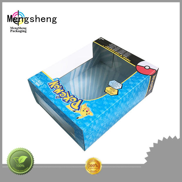 Mengsheng packaging kids toy box hot-sale with handles