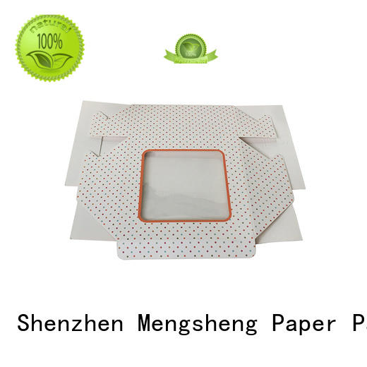 customized cardboard box at discount with ribbon Mengsheng