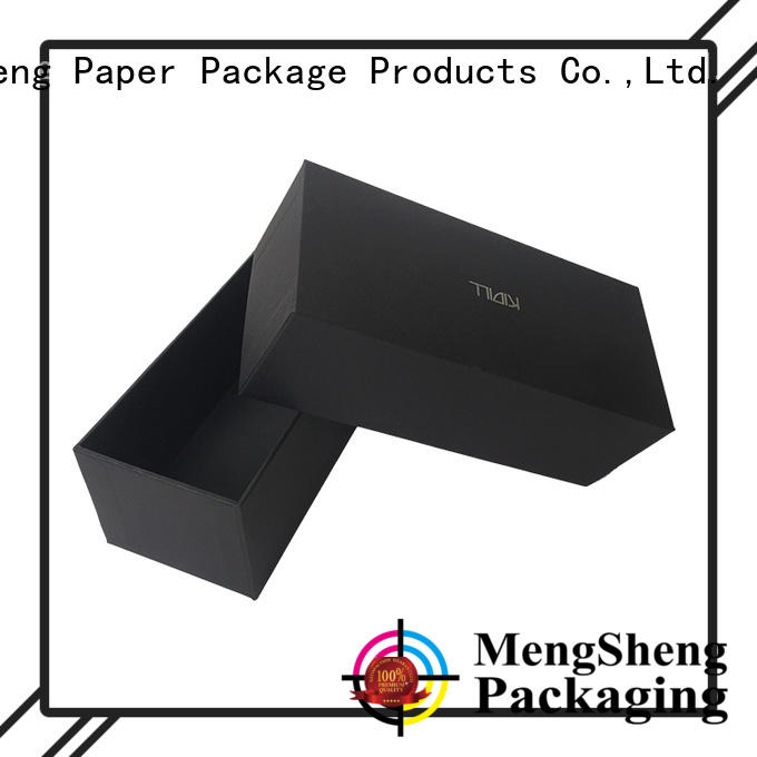 cosmetics packaging 2 piece box sturdy ribbon design jewelry packing