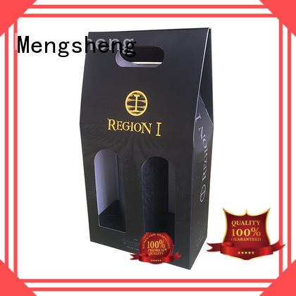 Mengsheng natural kraft paper branding package printed cardboard convenient