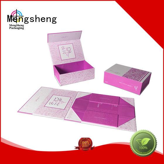 Mengsheng waterproof folding paper box logo printed garment packing