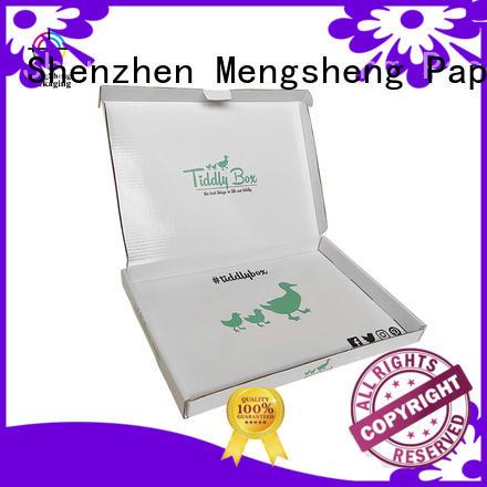 Mengsheng cosmetic packaging dress gift box free sample