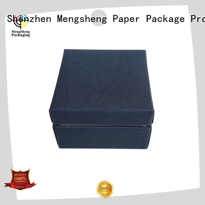Mengsheng printing jewelry display box eco friendly