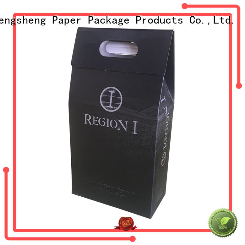 Foil stamping logo strong corrugated paper custom shipping box for wine bottles