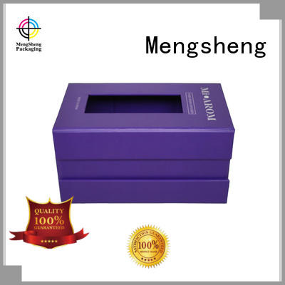 hot-sale red magnetic box printing for fruit packaging Mengsheng