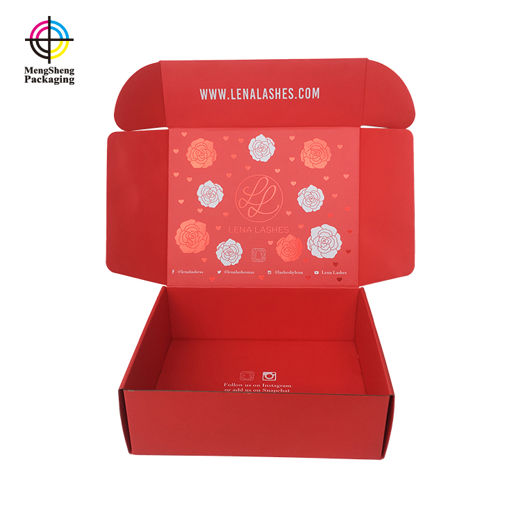 Mengsheng pink colour large christmas box with lid oliver oil displaying-1