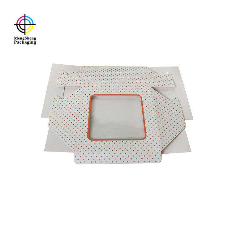 custom cake packaging boxes PVC window on top