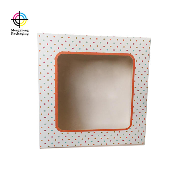 custom cake packaging boxes PVC window on top
