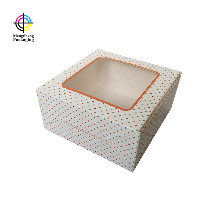 full color cake packaging window removable top brand-1