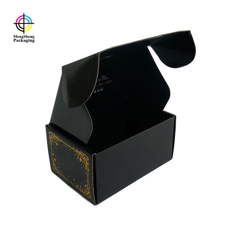 Custom corrugated cardboard box black subscription mailer box with printing design
