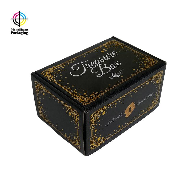 Mengsheng stamping corrugated bin boxes clothing packing custom design-1