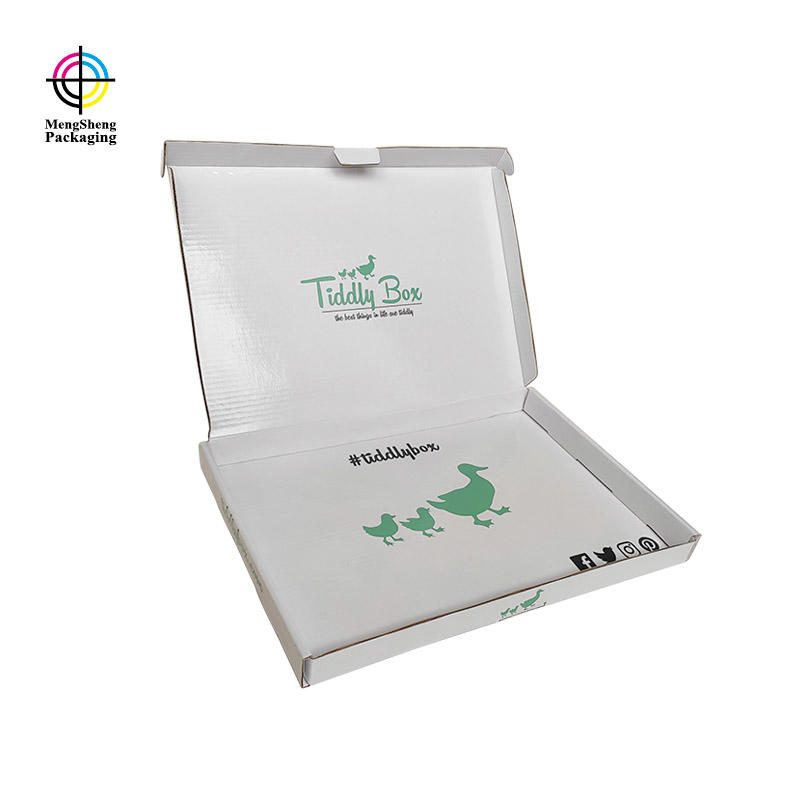 Clothing Gown Box Custom Printing Corrugated Paper Apparel Shipping Boxes For Kids