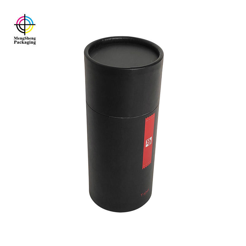 Custom Printed T-shirt Clothing Packaging Cardboard Gift Boxes Round Cardboard Tube boxes