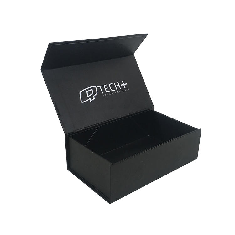 Magnet Custom Boxes Black Color Foldable Save Space And Shipping Cost
