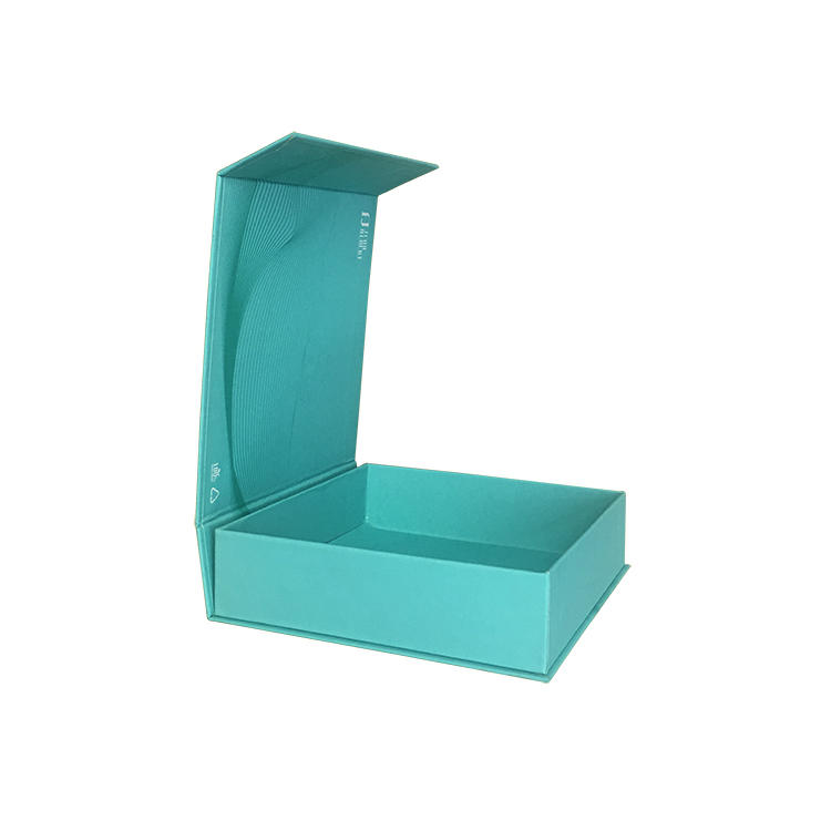 Cosmetic packaging box teal color for high quality perfume