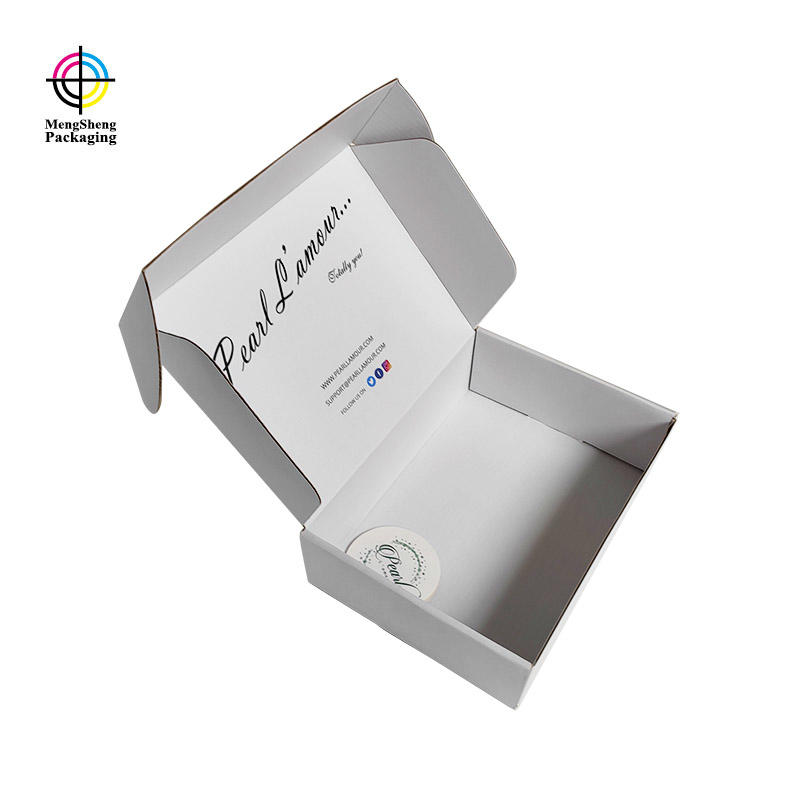 White color your logo custom shipping box corrugated paper subscription box
