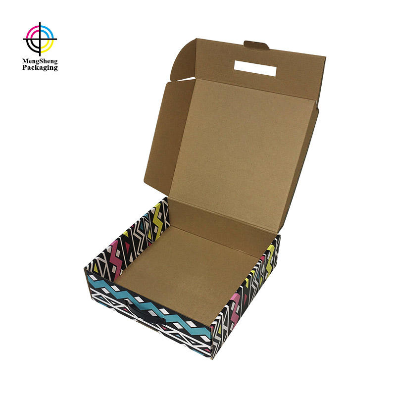 natural kraft paper branded shipping boxes corrugated double sides eco friendly