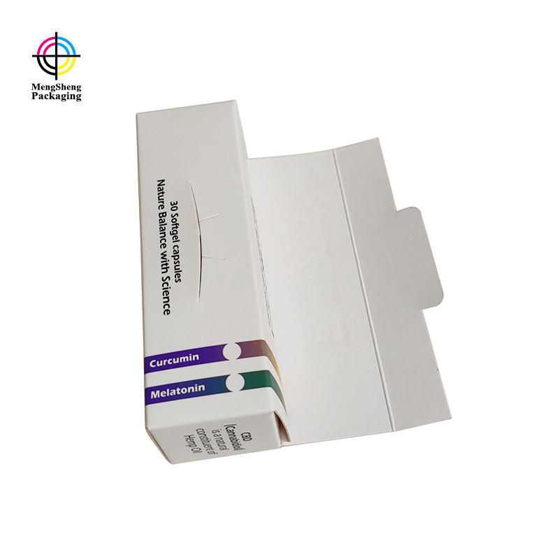 Flat packing foldable CMYK printing card paper cosmetic packaging box