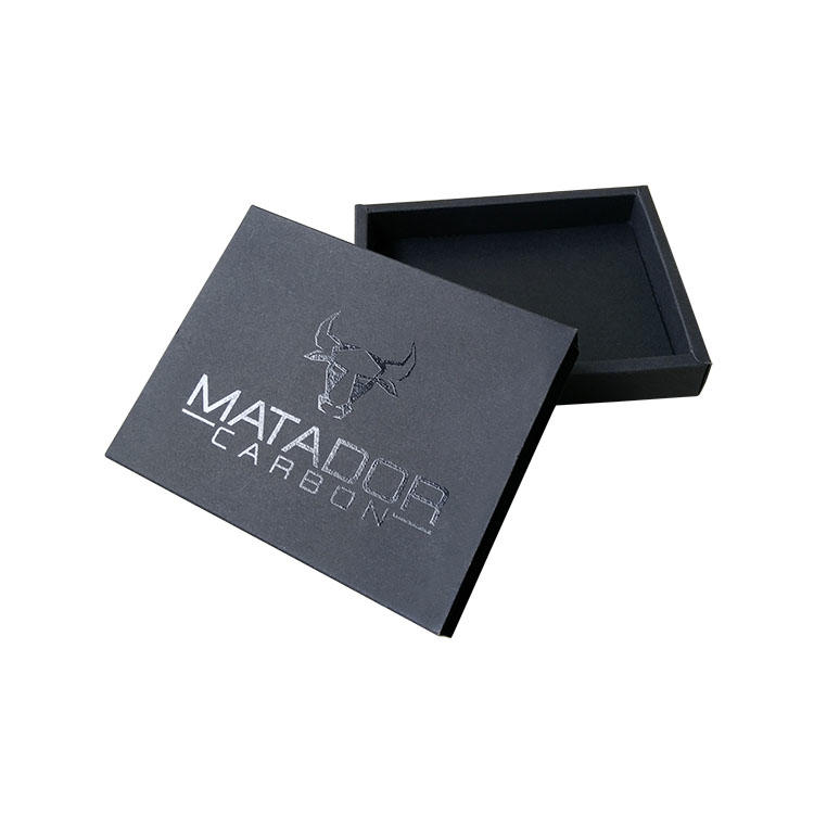 custom cosmetic boxes for nail black colour sponge insert