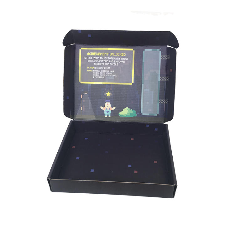 High Quality Custom Boxes Custom Logo Black Mailer Box