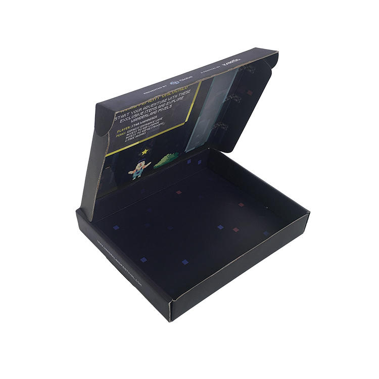 High quality customized shipping boxes custom logo black mailer box