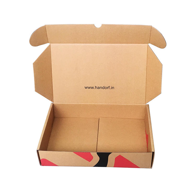 Custom Kraft Corrugated Cardboard Mailer Box With Printing Design