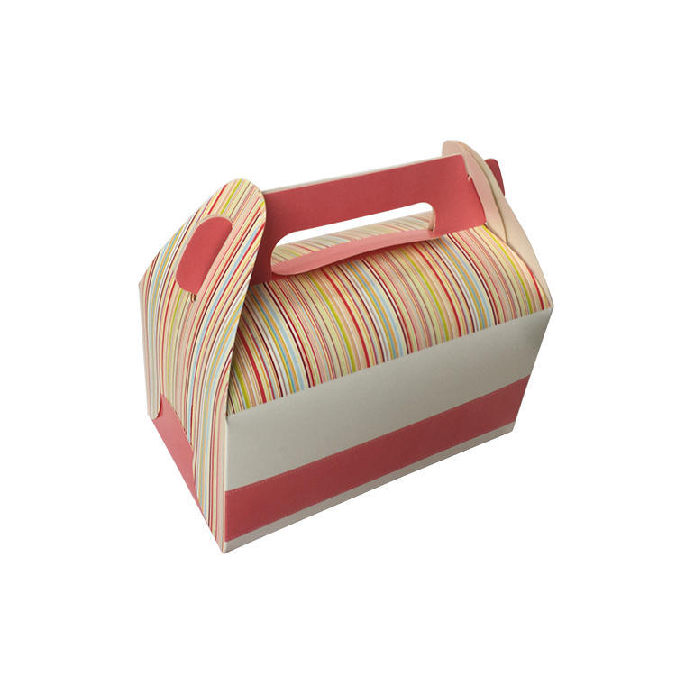 Cake  packaging box small size handle take away customized printing