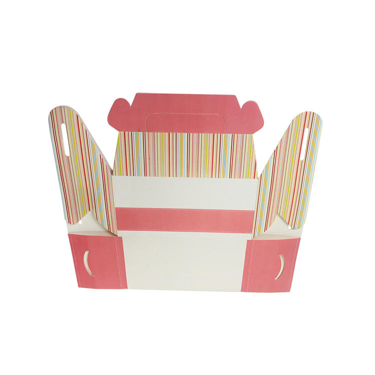 Cake  Packaging Box Small Size Handle Take Away Custom Box