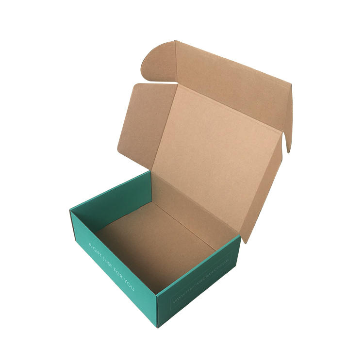 Custom Boxes Teal Colour Dress Packaging For Shop Shipping