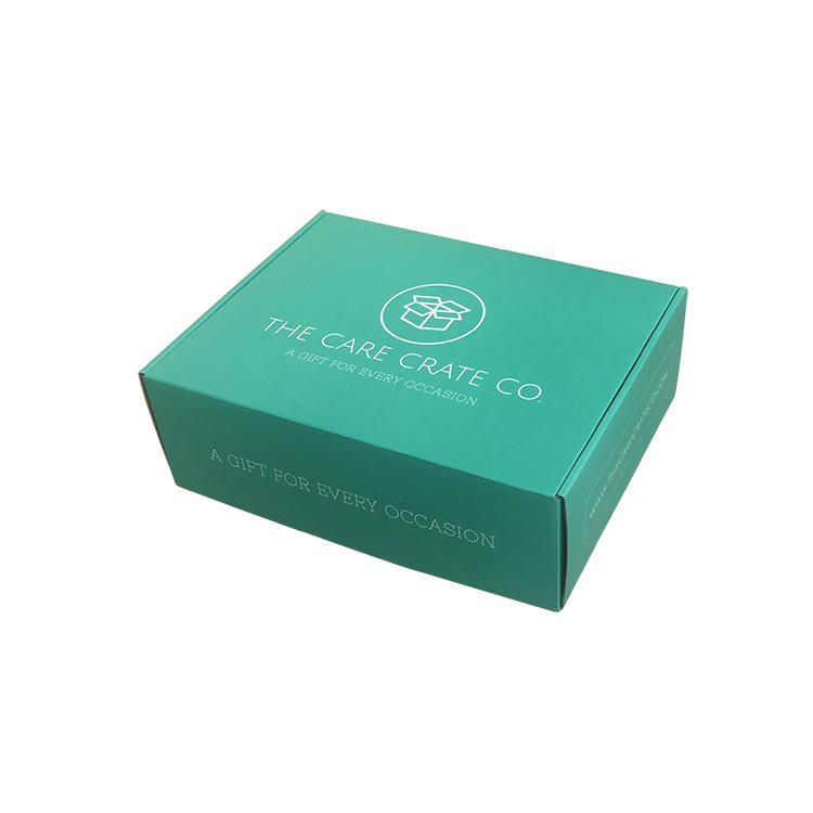 custom shipping box teal colour dress packaging for shop shipping