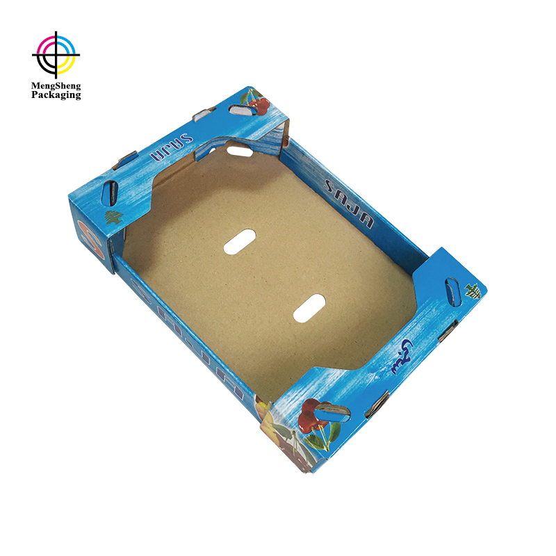Custom corrugated fruit packaging carton box with printing design