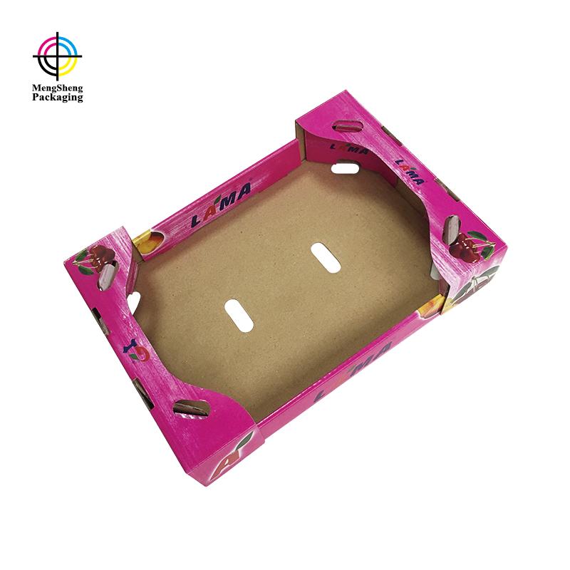 Custom corrugated fruit packaging carton box with printing design