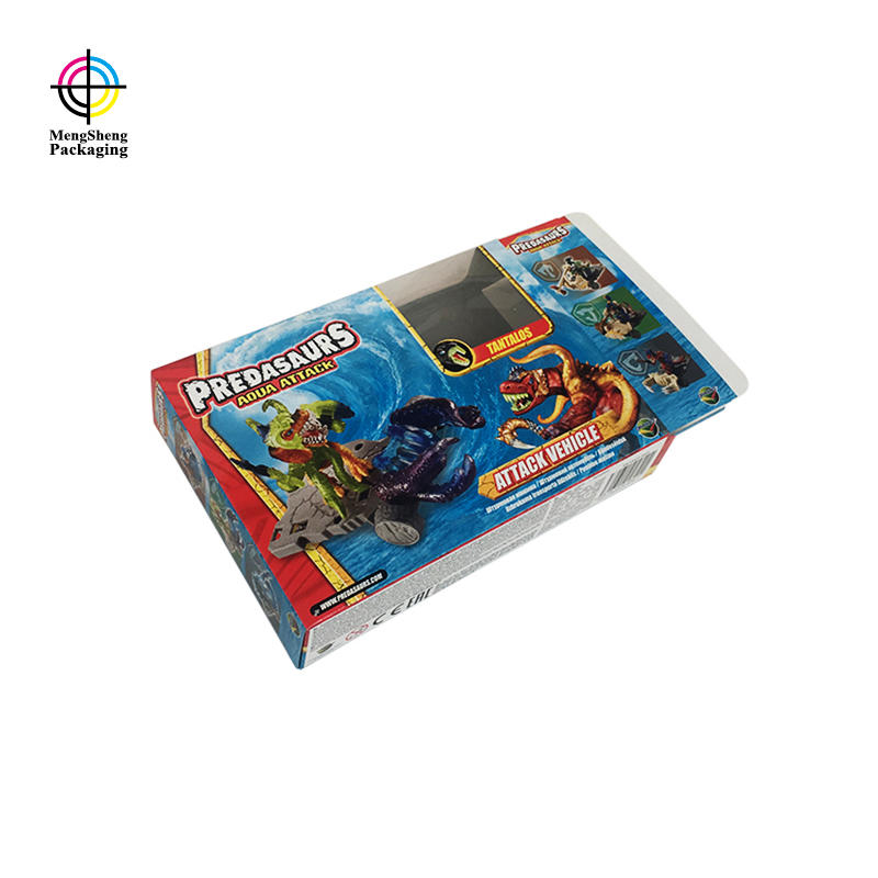 Custom toy packaging paper box with clear window