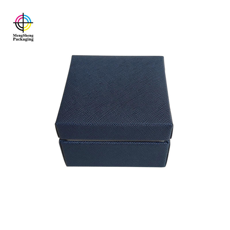 Cardboard jewelry paper box custom texture effect necklace ring bracelet gift box with velvet insert