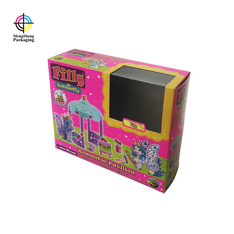 Custom foldable toy storage box packaging with printing design