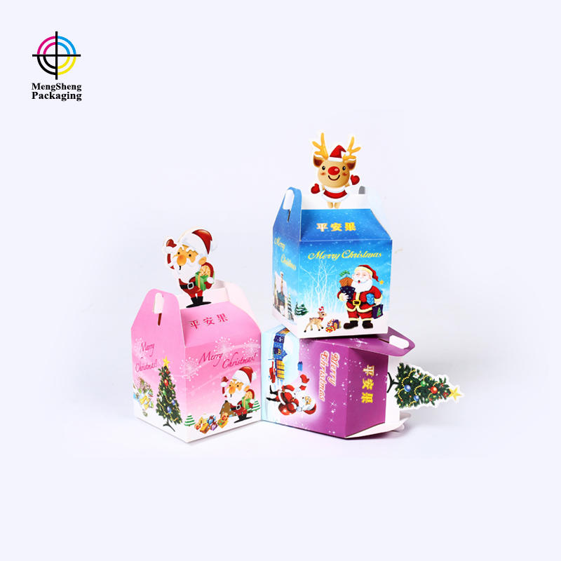 Create custom Christmas gift box for fruit packaging box with printing design