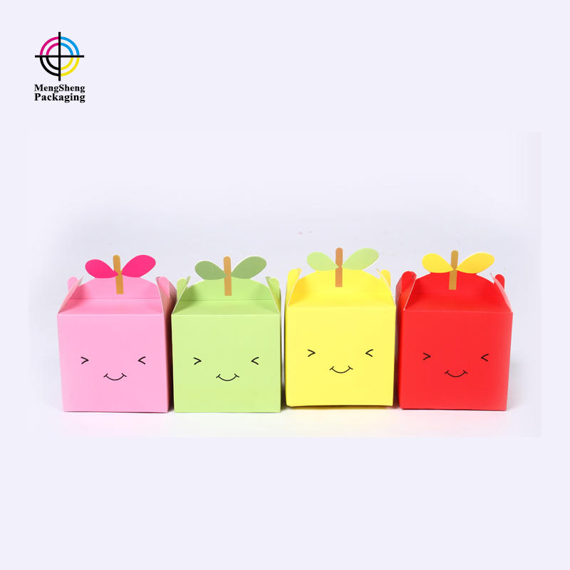 Mengsheng at discount small cardboard gift boxes pvc inserted for christmas gift