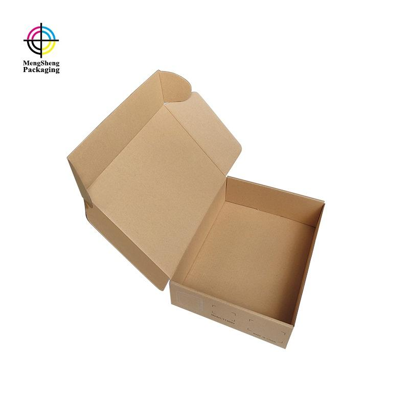 Foldable logo printed strong kraft corrugated electronics shipping box