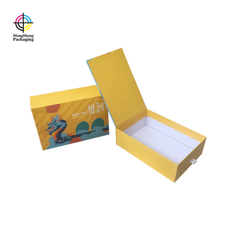 Custom unique design cardboard sliding gift box with magnetic lid