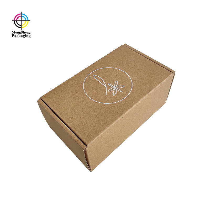 Customized brown kraft corrugated folding packaging boxes for apparel cosmetics